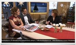 Alkoholcoach Anna Sjöström svarar på frågor i TV4